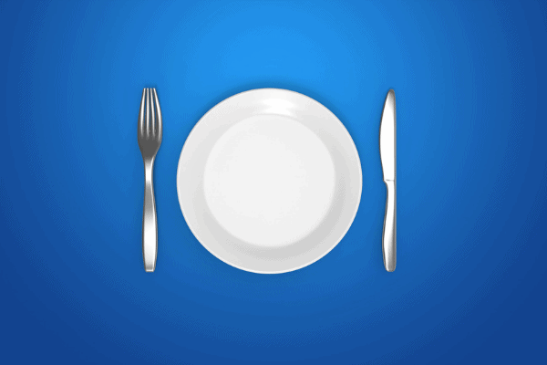 no food, fasting, empty plate